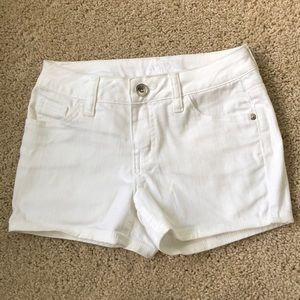 White jean shorts Justice